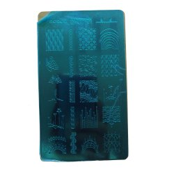 Plaque en acier inoxydable /Nail Art de l'image de la plaque d'estampage / Stencil ongles
