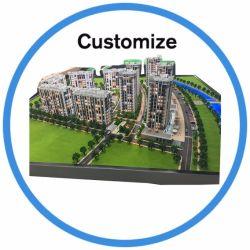 Maquetas de arquitectura de la famosa modelo de construcción en miniatura o el fútbol 3dstadium escala de la ciudad en miniatura de la casa de planificación de la creación de modelos