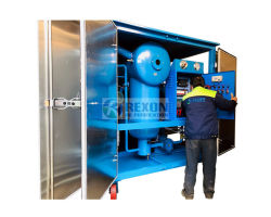Machine van de Filtratie van de Olie van de Transformator van de Dehydratie van Rexon de Hoge Vacuüm