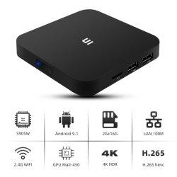Reproductor de medios de Mini PC Quad Core Android TV Box