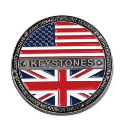 제조자 선전용 선물을%s Commemrative 영국 도전 군 동전을 각인하는 오래된 금 금속을 새기는 주문 3D 로고 아연 합금 기념품