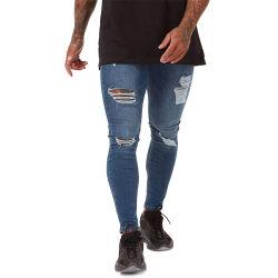 Königlicher Wolf-Spray auf Superausdehnungweicher Mens-beiläufiger Hosen-Baumwolldünner Sitz-dünnen Mann-Jeans