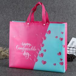 Sacchetto ultrasonico personalizzato della laminazione promozionale poco costosa 100GSM, sacchetto di acquisto non tessuto del Tote dei pp, sacchetto amichevole di Eco, sacchetto riciclato