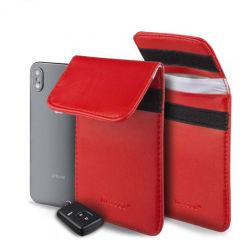 Chave do carro do bloco de sinal caso a RFID chave do carro Saco de Bloqueio de entrada sem chave guarda Fob bloquear o sinal mala bolsa