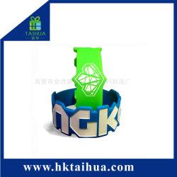 Custom figurado moda elegante pulseira de silicone/Bracelete/Tira de Borracha para acções de promoção