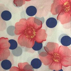100d Spandex tejido de gasa con la impresión Camiseta para mujer