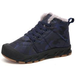 Antideslizante piel caliente chicos botas de nieve del invierno para niños
