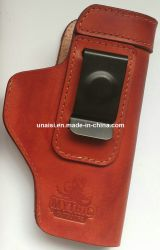 Sacoche de transport en cuir véritable personnalisé titulaire Holster pour pistolet