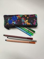 Sac de toile petite pochette téléphone cellulaire cas crayon détenteur de l'organiseur avec fermeture à glissière