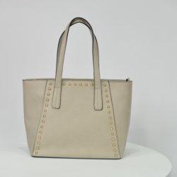 Sacchetti di Tote semplici delle borse delle signore di stile di modo di vendita calda con il testo fisso dei perni di metallo