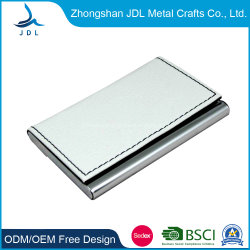 Мода бизнес держателя кредитной карты металлический провод фиолетового цвета кожи держателя карты для бизнеса (01)