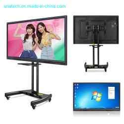 """55 """" 65 """" 75 """" 86 """" 98 """"学校教育のための1つの対話型LED WhiteboardのデュアルシステムWindows人間の特徴をもつLCDの接触表示画面すべて"""
