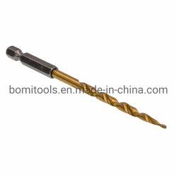 Brocas helicoidales de trabajo de madera con broca de avellanar HSS Brocas de torsión