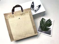 Nova e exclusiva a roupa de algodão com sacos sacola de palha mulheres bolsas de compras de lazer SH995