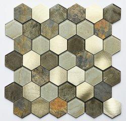 Mezcla de PVC de pared de cristal auto Stick mosaico para el hogar remodelación