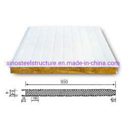 50 мм/75 мм/100мм/150мм полиуретан PU/EPS/Rockwool Сэндвич панели с помощью 0,4 мм/0,5 цвет стальной лист