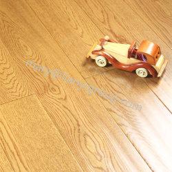 Chão em carvalho Laddered duas camadas /Engineered Wood Flooring com Wire-Brush