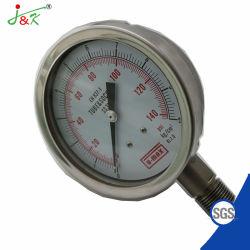 Tipo especial resistente a choques de alta presión Manómetro indicador de presión con acero inoxidable