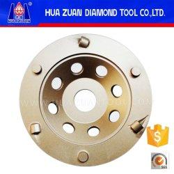 Roda de moedura do copo de Huazuan 6 PCD para o assoalho concreto