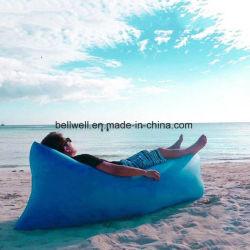 190t Polyester binnen/ buiten/ Camping Opblaasbare lucht slapen Lazy Sofa