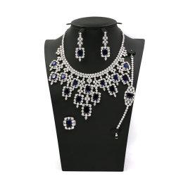 De luxe Gekleurde Reeks van de Juwelen van het Huwelijk van de Steen