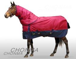 Nouveau 1680d hiver imperméable et respirante le tapis de cheval avec couvercle de goulotte amovible