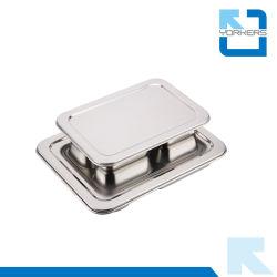 Mess en acier inoxydable compartiment du bac 4 plaques de fast-food