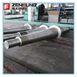 Le forgeage à chaud en acier allié de l'arbre de transmission utilisée pour l'exploitation minière des machines
