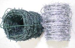 Fil barbelé galvanisé à base de PVC / électrique