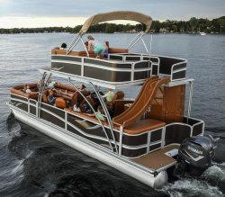 Barca di alluminio Double-Deck del pontone da vendere
