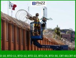 Венгерский предельно колючей проволоки пограничных барьеров