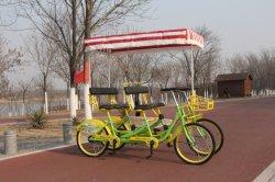 Два человека Автомобиль педали четыре лица Tandem Суррей велосипед