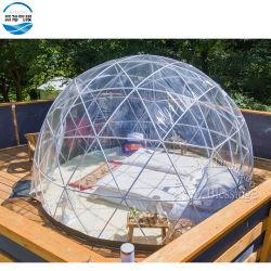 鉄骨フレームが付いている屋外のキャンプの明確な透過膨脹可能な水晶泡テント/膨脹可能な泡ドームのテント