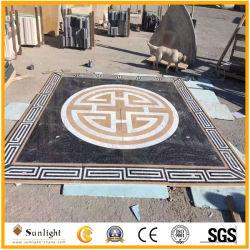 Haute qualité jaune/blanc/noir en marbre Oracle Waterjet médaillon décoration pour les revêtements de sol