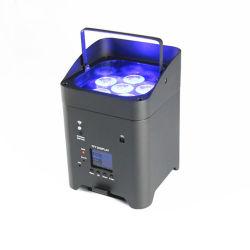 6PCS DMX RGBWA WiFi bateria UV para casamento PAR 64