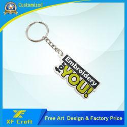 Китай оптовой пользовательские рекламные промо сувенир подарки Дизайн рекламы пропаганда 3D логотип мягкий силиконовый чехол из ПВХ с логотипом резиновые пластиковые цепочки ключей Maker (KC-P45)