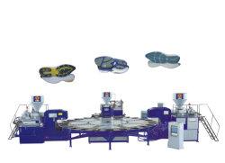 Dreheinspritzung-Maschine für drei Farbe TPR. Kurbelgehäuse-Belüftung. TPU Outsole