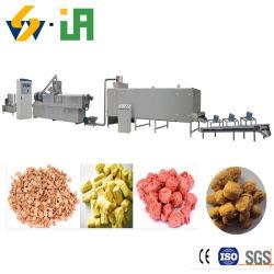 Textura concentrada pedaços de proteína de soja a máquina de proteína de soja a linha de processamento