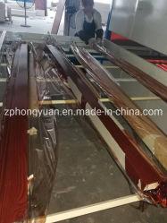Profil en aluminium du grain du bois le transfert de chaleur de la machine vide