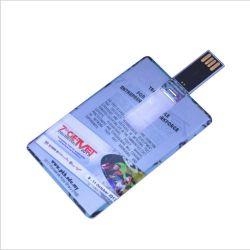 Memória Flash USB de cartão de crédito para o logotipo personalizado