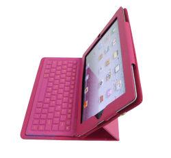 Folio lederen tas met Bluetooth-toetsenbord voor iPad 2 /de Nieuwe iPad (BL-1021)