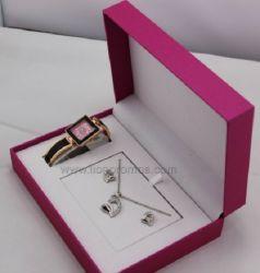 Frauen-Form-Geschenk-Halsketten-Uhr-Set