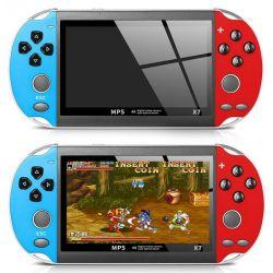 4.3 polegada para uma consola de jogos portátil Gba X7 game player de vídeo 300 Livre jogos retro game player do visor LCD para crianças