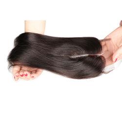 Fechos de cabelo Virgem brasileira Top Brazillian directamente Lace Encerramento Nós branqueada Clousure 3 Parte livre Peça de fecho de cabelo humano