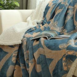 Coperta per la manovella lanuginosa del panno morbido di Microfiber del sofà dello strato molle, coperta crema solida sfocata, accogliente, leggera della manovella di Sherpa di Latte