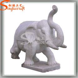 La decoración del hotel jardín de esculturas de elefantes de artesanía Artificial rocalla