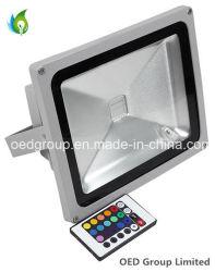IP65 50W RGB Светодиодный прожектор с 24-кнопочный пульт дистанционного управления
