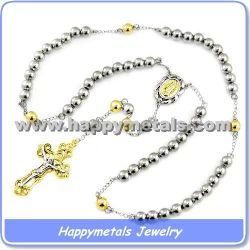 316L外科ステンレス鋼の数珠のビーズのネックレスN5719-1)
