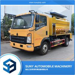Sinotruk 2-4 cbm Lavagem com Alta Pressão de limpeza de esgotos de vácuo veículo lavagem do tanque de sucção de esgotos lodo fecal máquina para venda