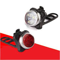 Fietsset lamp Mountain Bike 5 LED-koplamp Achterlicht fiets Stel de accessoires voor het rijden van lampen in